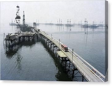 Soviet Caspian Sea Oil Fields, 1978 Canvas Print by Ria Novosti