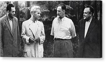 Soviet Engineers And Physicists, 1954 Canvas Print by Ria Novosti
