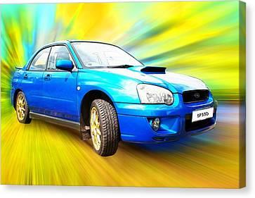 Subaru Impreza Canvas Print - Sp33d by Sharon Lisa Clarke