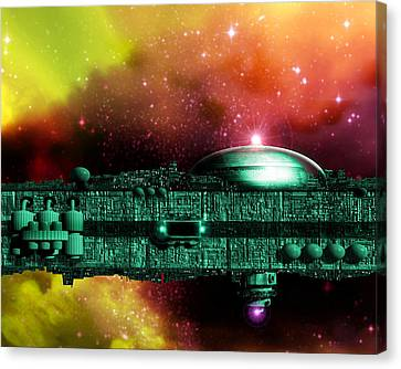 Space Ark Canvas Print by Victor Habbick Visions