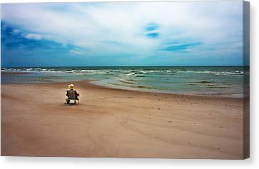 Topsail Island Canvas Print - Space by Betsy Knapp