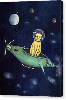 Space Bob Canvas Print by Leah Saulnier The Painting Maniac
