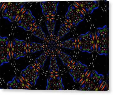 Canvas Print featuring the digital art Space Flower by Alec Drake