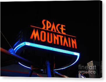Space Mountain Sign Magic Kingdom Walt Disney World Prints Canvas Print by Shawn O'Brien