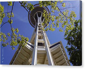 Space Needle Seattle Washington Canvas Print by Ty Savell