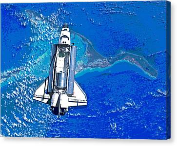 Atlantis Canvas Print - Space Shuttle Atlantis Docking by Padre Art