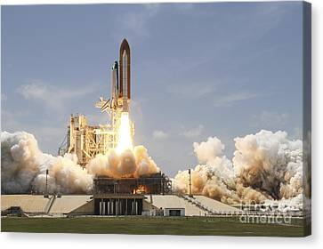 Space Shuttle Atlantis Lifting Canvas Print by Stocktrek Images