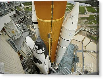 Space Shuttle Atlantis On The Launch Canvas Print by Stocktrek Images