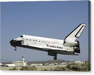 Space Shuttle Atlantis Prepares Canvas Print by Stocktrek Images