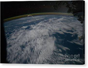 Space Shuttle Atlantis, Seen From I.s.s Canvas Print by NASA/Science Source