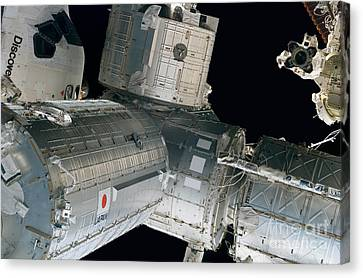 Space Shuttle Discovery And Components Canvas Print by Stocktrek Images