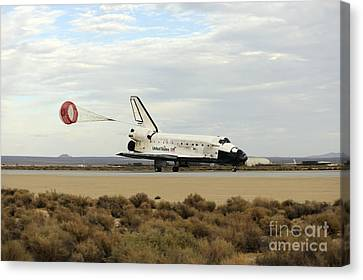 Space Shuttle Discovery Deploys Canvas Print by Stocktrek Images
