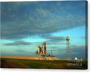 Space Shuttle Endeavor On Launch Pad Canvas Print by Nasa