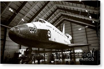 Space Shuttle Endeavour Canvas Print by Nina Prommer