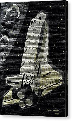 Space Shuttle Final Mission Canvas Print
