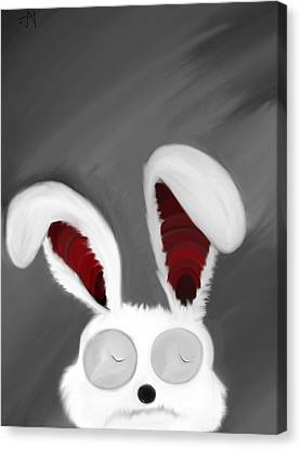 Spaced Bunny Canvas Print by Andre Carrion