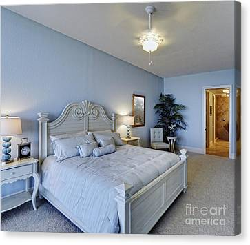 Spacious Bedroom Canvas Print by Skip Nall