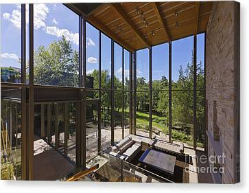 Spacious Living Room With A View Canvas Print by Jeremy Woodhouse
