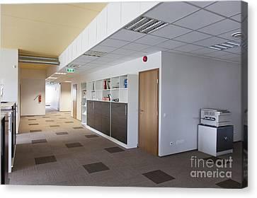 Copy Machine Canvas Print - Spacious Office Hallway by Jaak Nilson