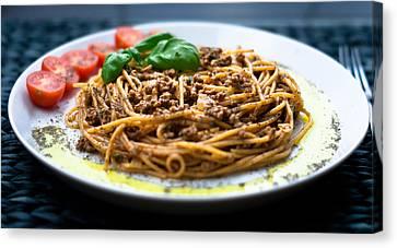 Spaghetti Bolognese Canvas Print by Wojciech Wisniewski