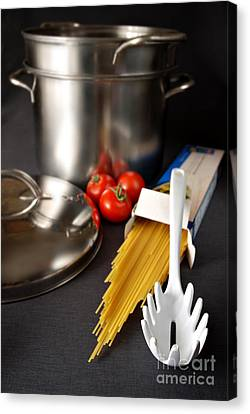 Stainless Steel Canvas Print - Spaghetti by HD Connelly