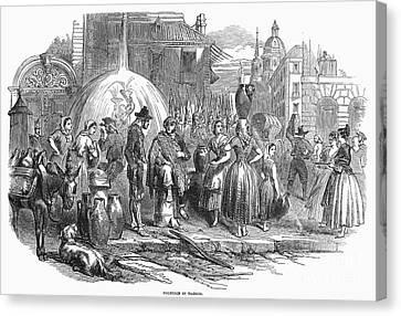 Spain: Madrid, 1848 Canvas Print by Granger