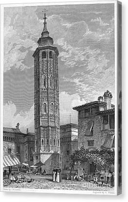 Spain: Saragossa, 1833 Canvas Print by Granger