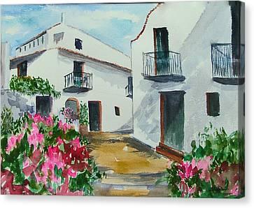 Spanish Balconies Canvas Print