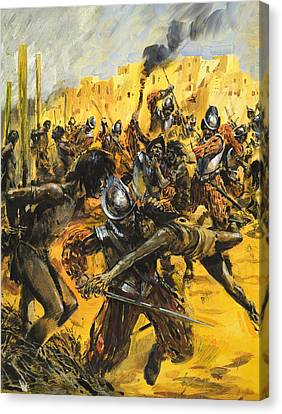 Spanish Conquistadors Canvas Print by Graham Coton