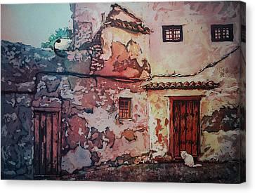 Spanish Courtyard Canvas Print