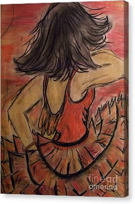 Canvas Print featuring the painting Spanish Dancer by Lori  Lovetere