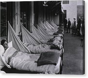 Spanish Flu Epidemic 1918-19. An Canvas Print by Everett