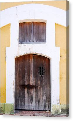 Spanish Fort Door Castillo San Felipe Del Morro San Juan Puerto Rico Prints Canvas Print by Shawn O'Brien