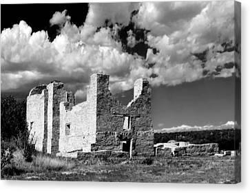 Mission Canvas Print - Spanish Mission Ruins Of Quarai Nm by Christine Till
