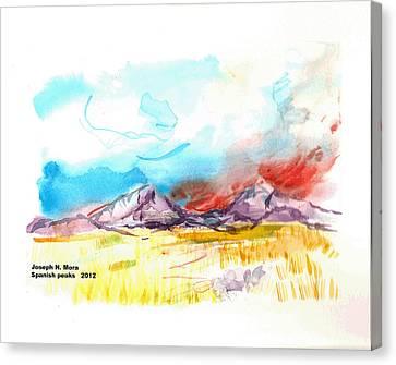 Spanish Peaks Study Canvas Print