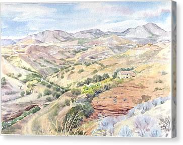 Spanish Sierra Canvas Print by Maureen Carter