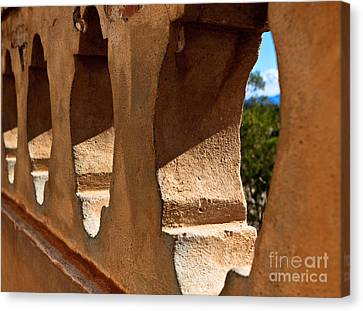 Canvas Print featuring the photograph Spanish Wall by Lawrence Burry