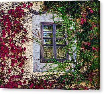 Canvas Print featuring the photograph Spanish Window by Don Schwartz