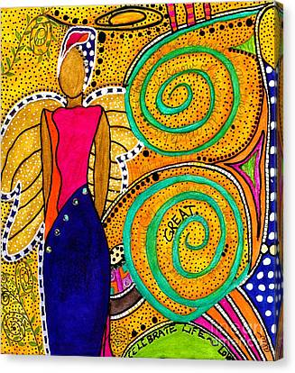 Sparkle The Angel Of Twinkling Thoughts Canvas Print by Angela L Walker