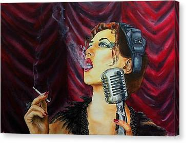 Speakeasy Blues Canvas Print by Don Whitson