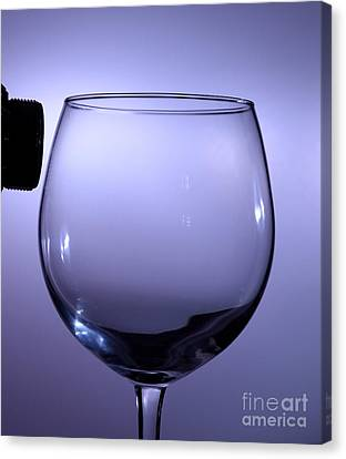 Speaker And A Glass Canvas Print by Ted Kinsman