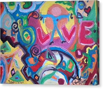 Special Drop Of Love Canvas Print by Catherine Herbert