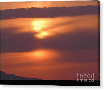 Spectacular Sunrise Canvas Print by Louise Peardon