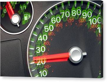 Speedometer Canvas Print by Johnny Greig