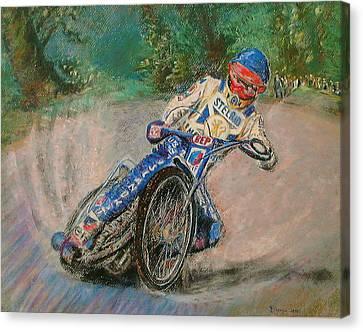 Speedway Rider Edinburgh Monarchs Canvas Print