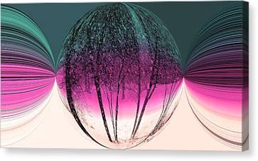Spherical Snowstorm Canvas Print