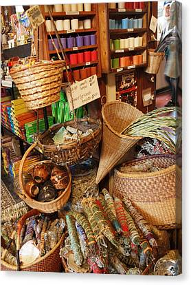 Spice Shop Canvas Print by Jim Moore