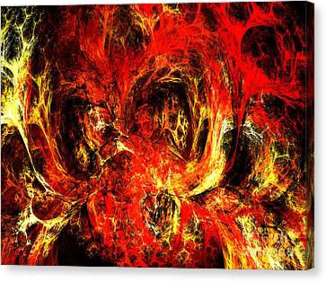Spider Caverns Canvas Print by Andee Design