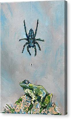 Spider Fly And Toad Canvas Print by Fabrizio Cassetta