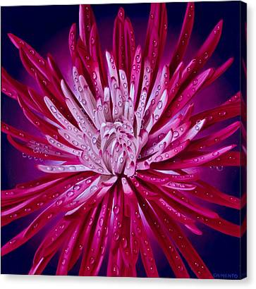 Hyper-realism Canvas Print - Spider Mum by Tony Chimento